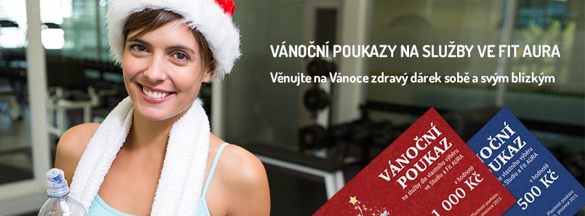 Darujte na vánoce vánoční poukaz do fitness FIT AURA